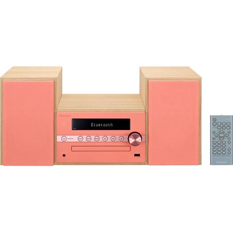 Mikro HiFi systém Pioneer X-CM56-R červený/drevený + Doprava zadarmo