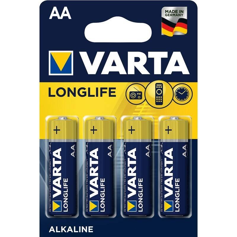Batéria alkalická Varta Longlife AA, LR06, blistr 4ks (4106101414)