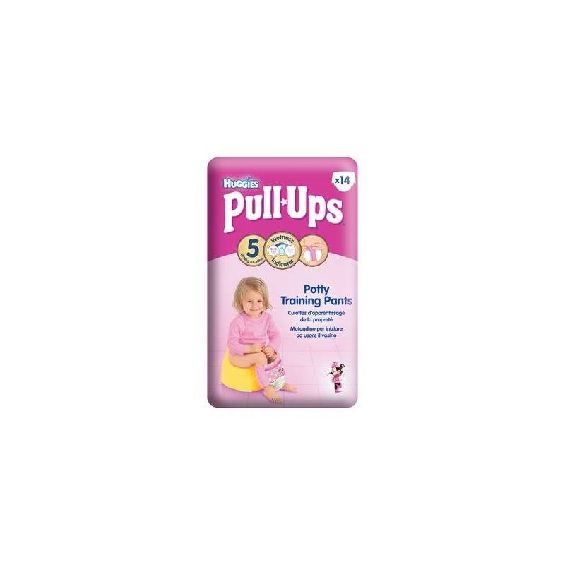 Plienky Huggies Pull Ups Medium - Girls 14-18 kg, 14 ks