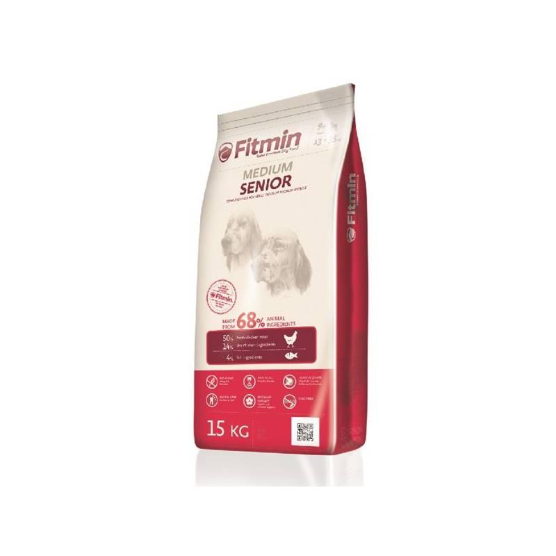 Granule FITMIN dog Medium Senior - 15 kg Antiparazitní obojek Scalibor Protectorband pro psy - 48 cm