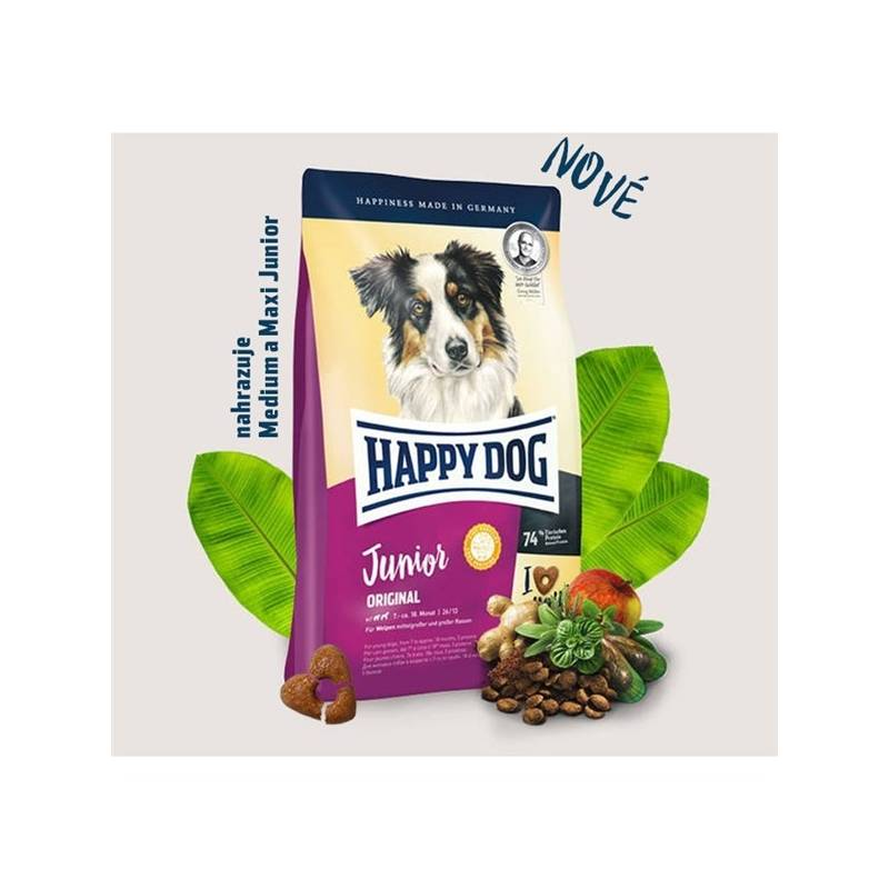 Granule HAPPY DOG Junior Original 4 kg