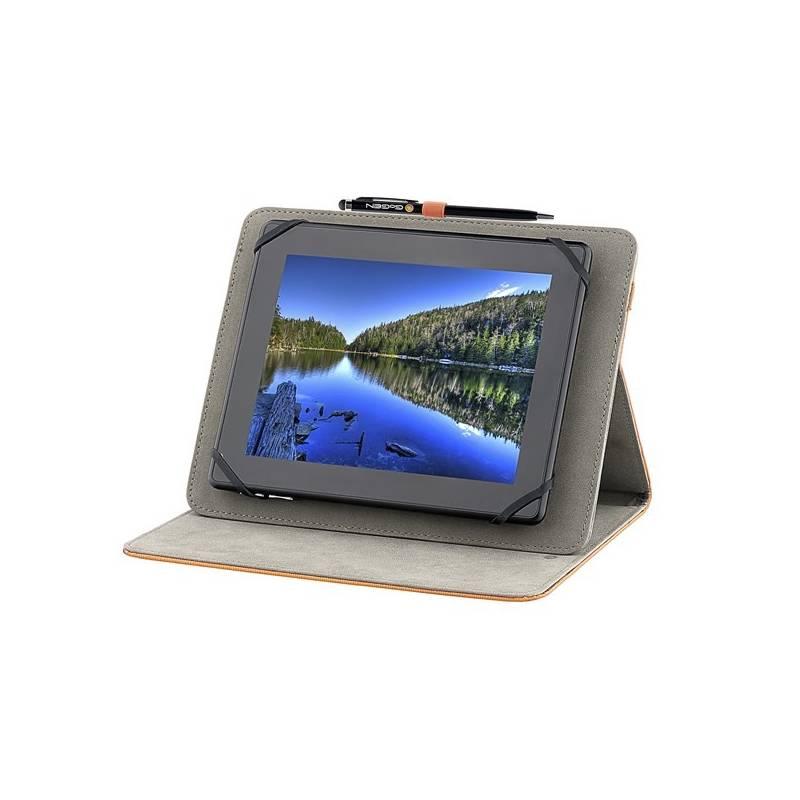 "Puzdro na tablet polohovacie GoGEN pro 9,7"" + stylus (GOGTA9STANDSTO) oranžové"