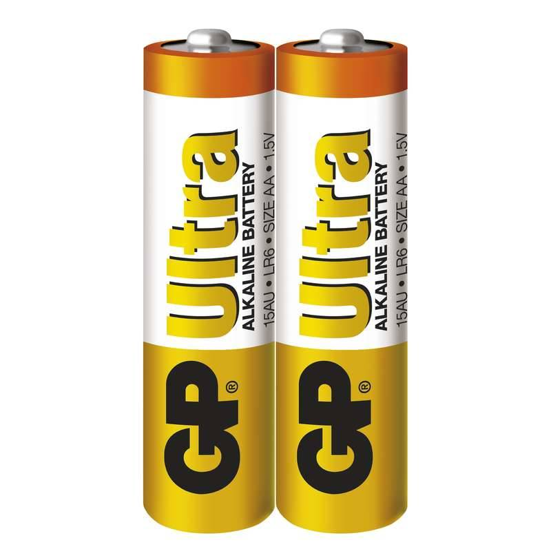 Baterie alkalická GP Ultra AA, LR06, fólie 2ks (GP 15AU)