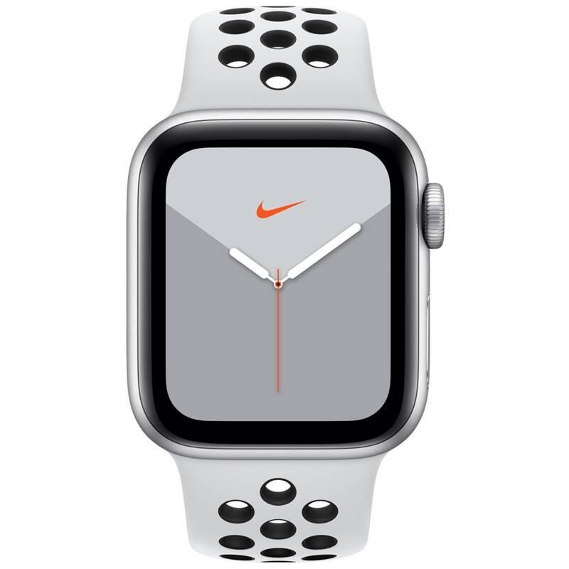 Inteligentné hodinky Apple Watch Nike Series 5 GPS 40mm pouzdro ze stříbrného hliníku - platinový/černý sportovní řemínek Nike SK (MX3R2VR/A) + Doprava zadarmo