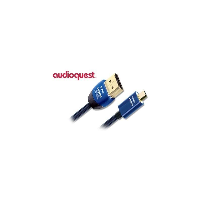Kábel AQ Slinky HDMI / micro HDMI, 2m (qslinkyhdmimc0020) modrý