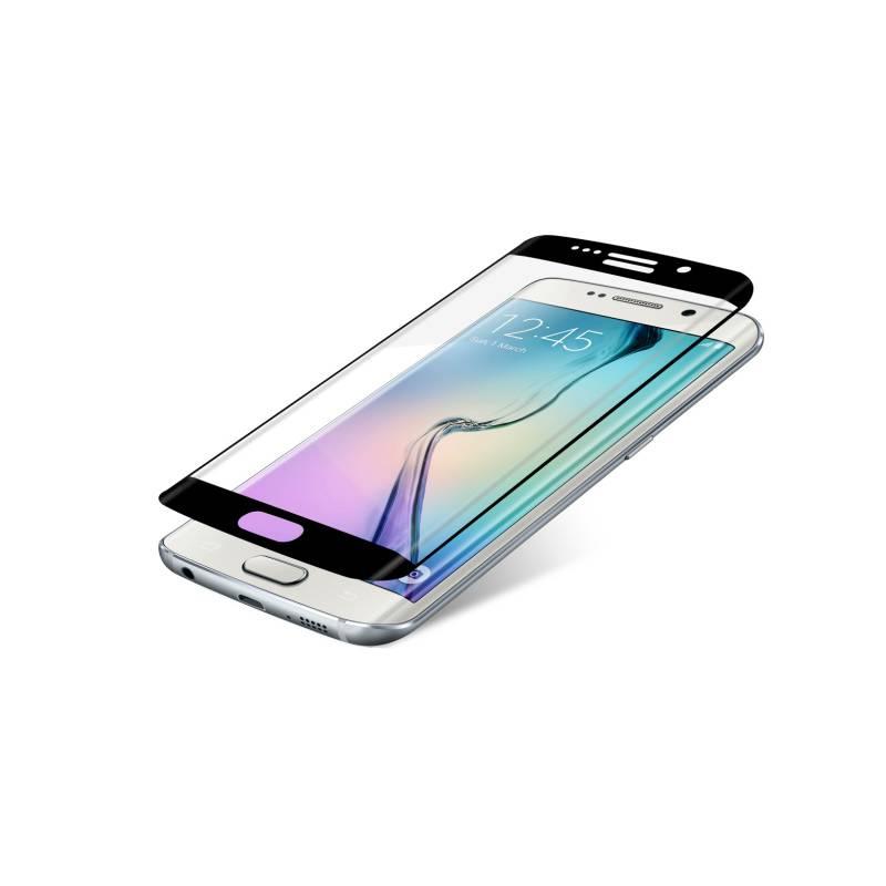 Ochranné sklo InvisibleSHIELD Glass Contour pro Samsung Galaxy S6 Edge - černý rám (ZGG6ECGS-BK0) priehľadné