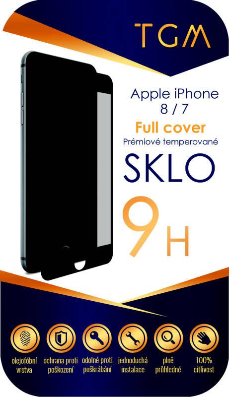 Ochranné sklo TGM Full Cover pro Apple iPhone 7/8 (TGMAPIP7/8BL) černé