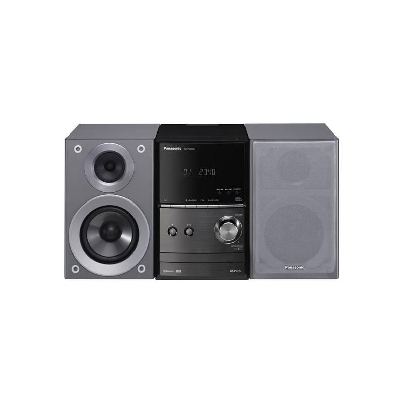 Mikro HiFi systém Panasonic SC-PM602EG-S (SC-PM602EG-S) strieborná Sluchátka Panasonic RP-HF100ME-K - černá (zdarma)