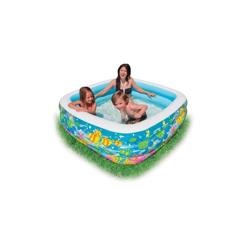 Bazén Intex Akvárium hranatý