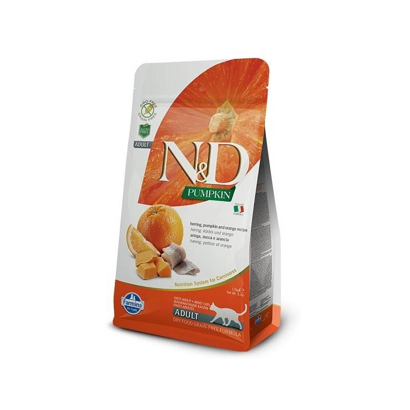 Granule N&D Grain Free Pumpkin CAT Herring & Orange 1,5 kg