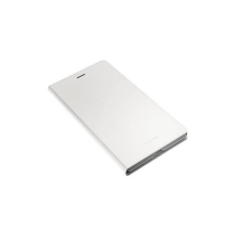 Puzdro na mobil flipové Huawei pro P7 biele