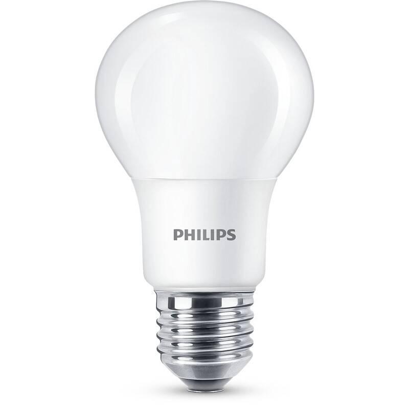 LED žiarovka Philips klasik, 8W, E27. teplá bílá (8718699769642)