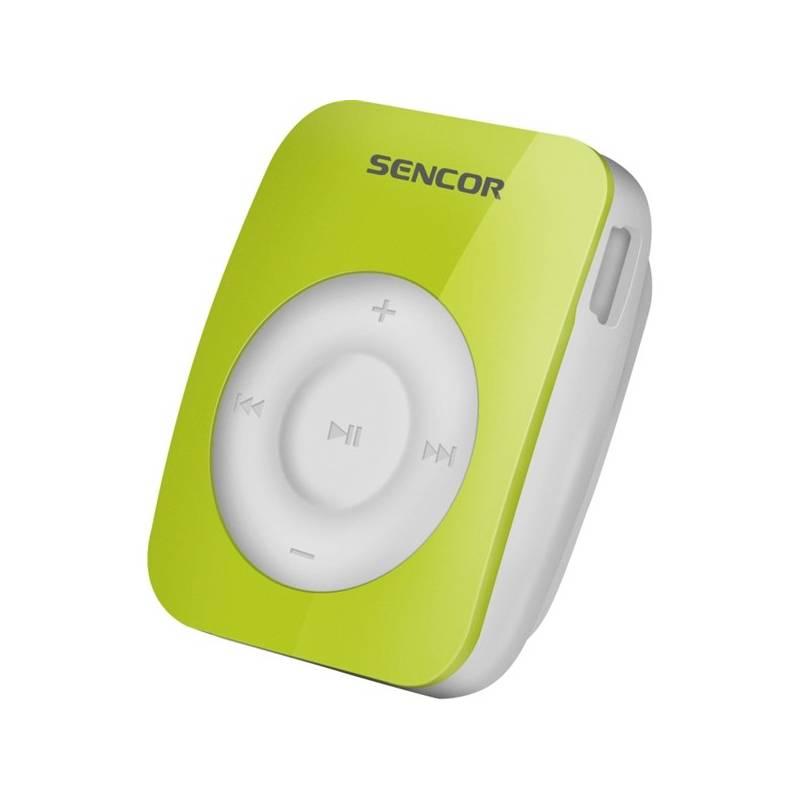 MP3 prehrávač Sencor SFP 1360 GN 4GB (352785) zelený