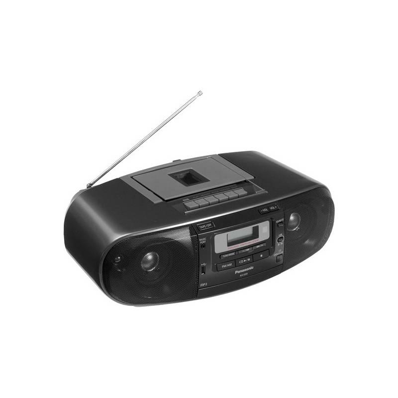 Rádiomagnetofón s CD Panasonic RX-D55AEG-K čierny