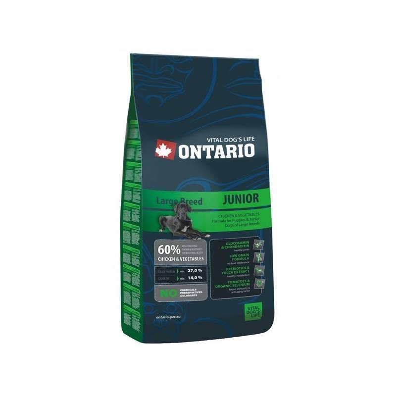 Granule Ontario Junior Large Breed 13 kg Antiparazitní obojek Scalibor Protectorband pro psy - 48 cm