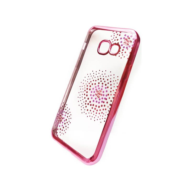 Kryt na mobil Beeyo Flower Dots pro Samsung Galaxy A3 (2017) (BEASAGAA32017TPUFLPI) ružový