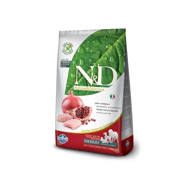 Granule N&D Grain Free DOG Adult Chicken & Pomegranate 12 kg Antiparazitní obojek Scalibor Protectorband pro psy - 48 cm