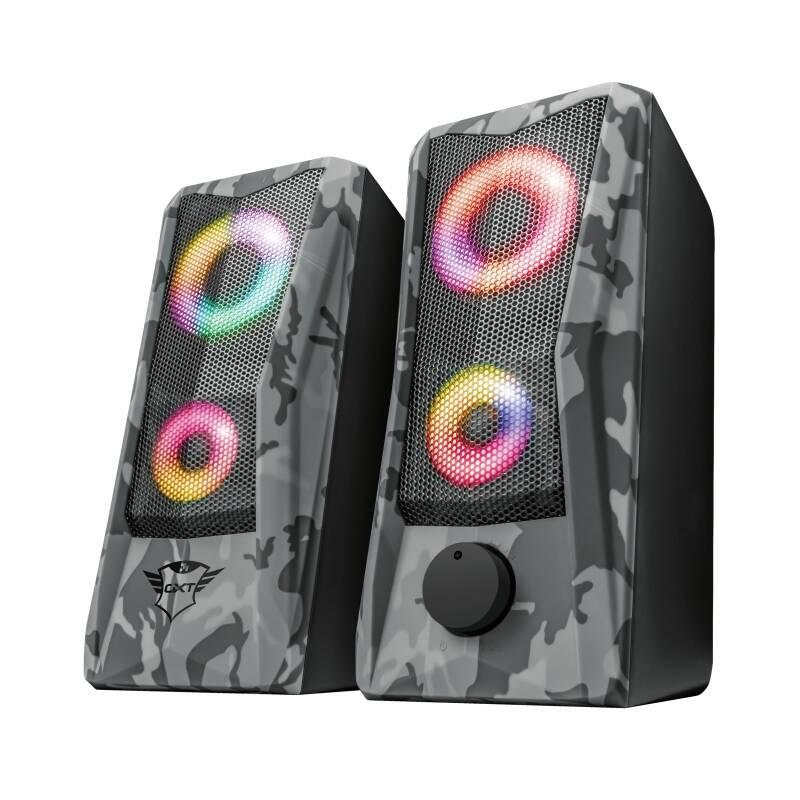Reproduktory Trust GXT 606 Javv RGB-Illuminated 2.0 (23379) sivé