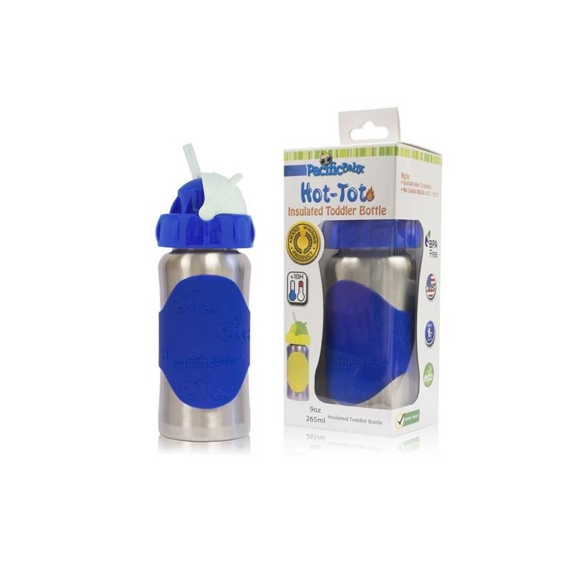 Detská termofľaša Pacific Baby Hot-Tot s brčkem 260 ml modrá