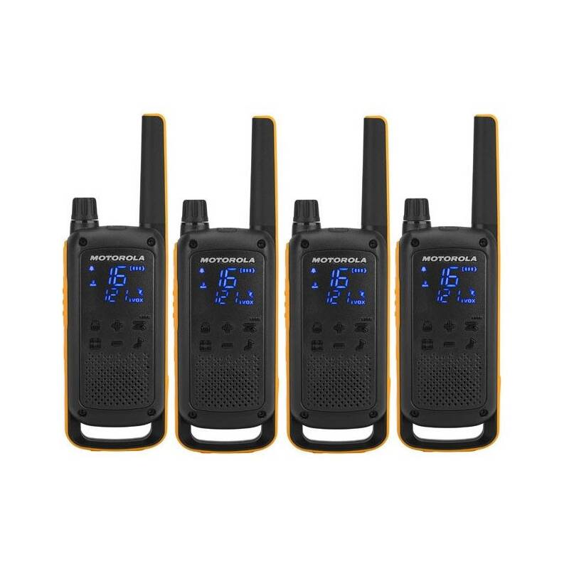 Vysielačky Motorola TLKR T82 Extreme Quad Pack (B8P00810YDEMAQ) čierny/žltý