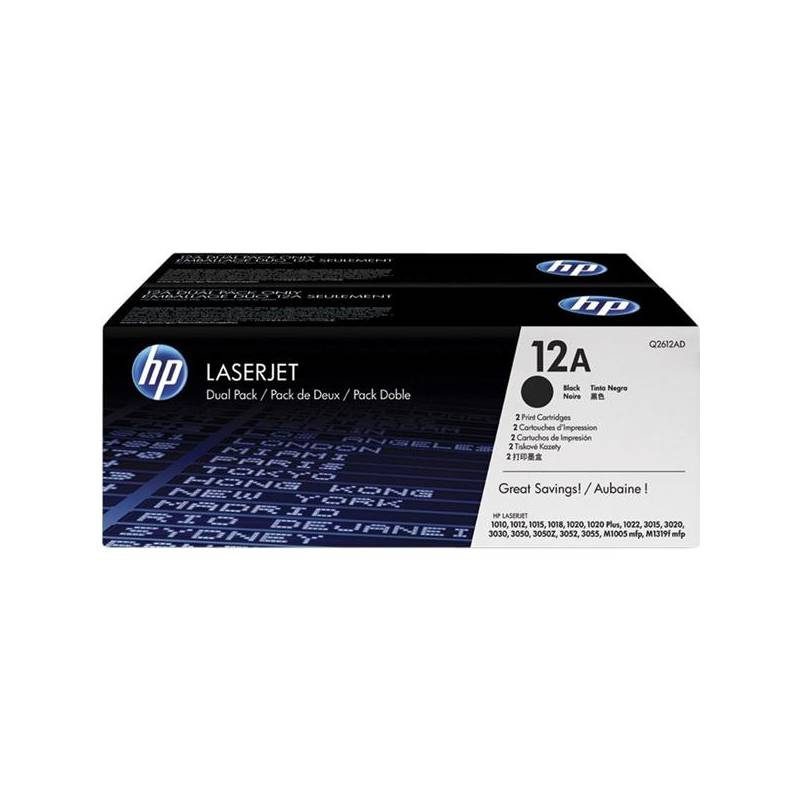Toner HP 12A, 2x 2000 stran (Q2612AD) čierny + Doprava zadarmo