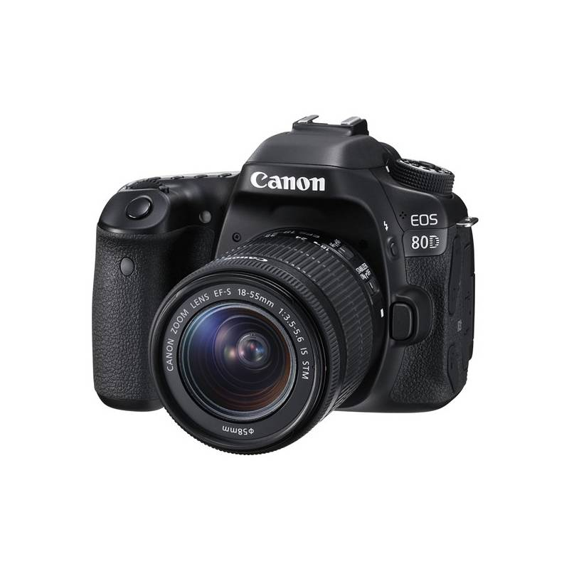 Digitálny fotoaparát Canon EOS 80D + 18-55 IS STM (1263C033) čierny + Cashback 100 € + Doprava zadarmo