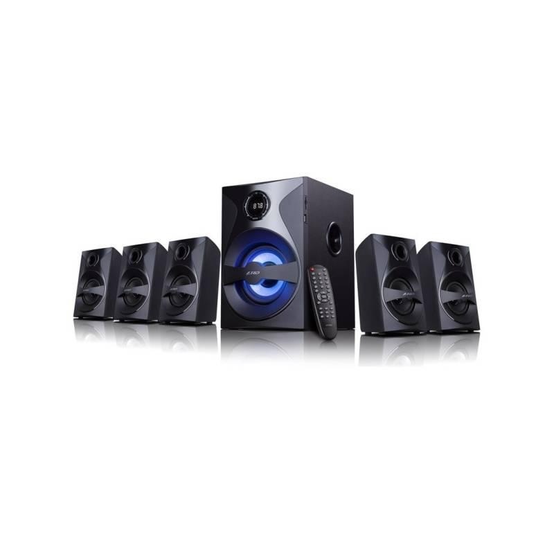 Reproduktory Fenda F&D F3800X 5.1, bluetooth, rádio, USB, SD, dálkové ovládání (F3800X) čierne