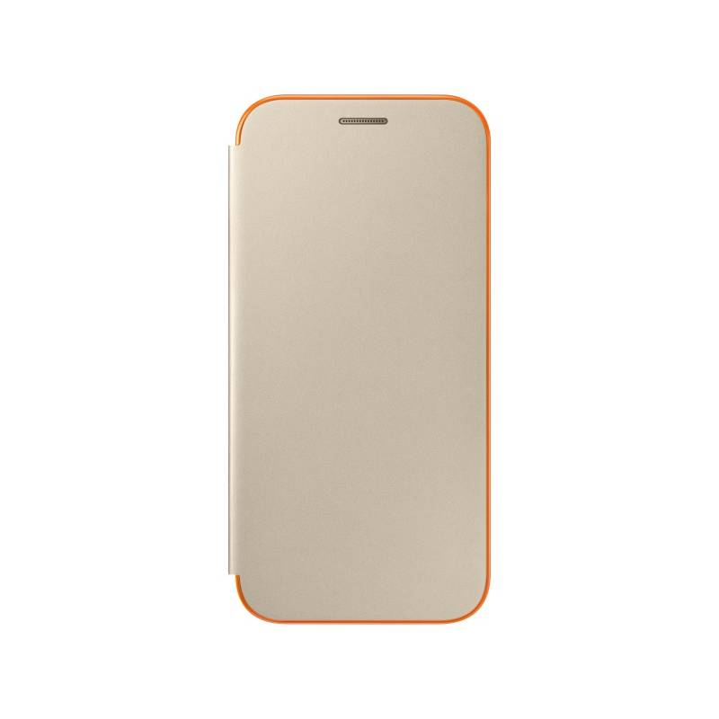 Pouzdro na mobil flipové Samsung Neon flip pro Galaxy A5 2017 (EF-FA520PFEGWW) zlaté