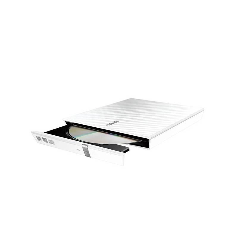 Externá DVD napaľovačka Asus SDRW-08D2S Lite (90-DQ0436-UA161KZ) biela