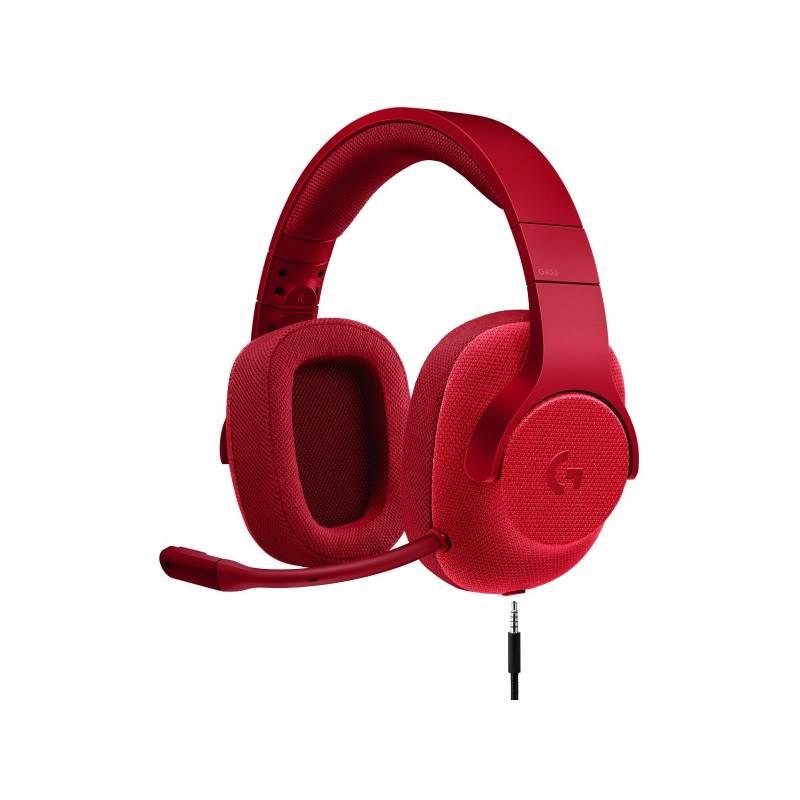 Headset Logitech Gaming G433 7.1 Surround (981-000652) červený