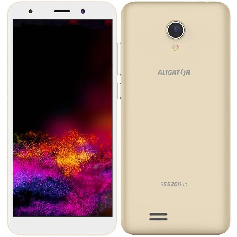 Mobilný telefón Aligator S5520 (AS5520GD) zlatý