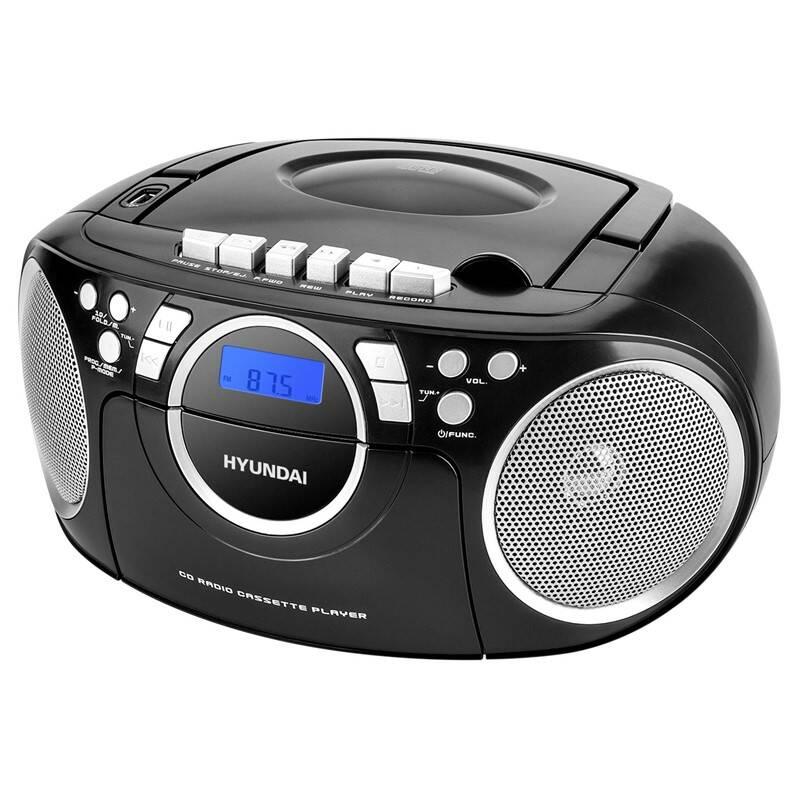 Rádiomagnetofón s CD Hyundai TRC 788 AU3BS čierny/strieborný