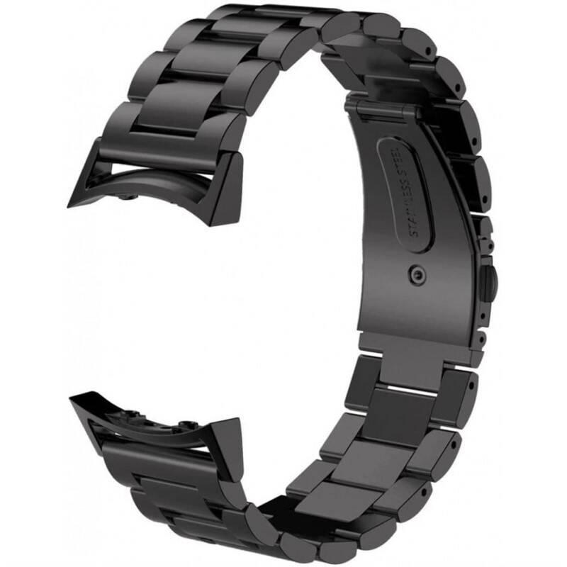 Remienok WG na Samsung Gear S2 (R720), kovový pletený (9112) čierny