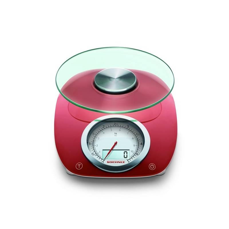 Kuchynská váha Leifheit Vintage Style (66229) červená