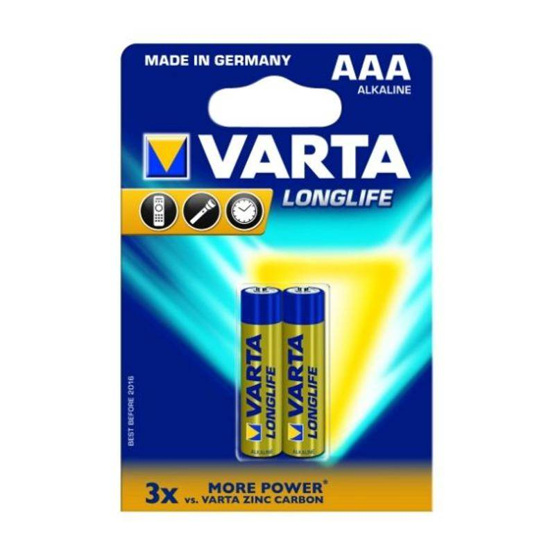 Batéria alkalická Varta Longlife, AAA, 2 ks