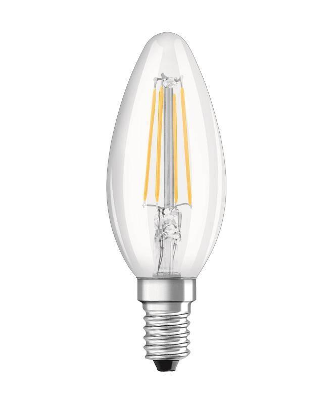 LED žiarovka Osram svíčka, 4W, E14, teplá bílá (444661)
