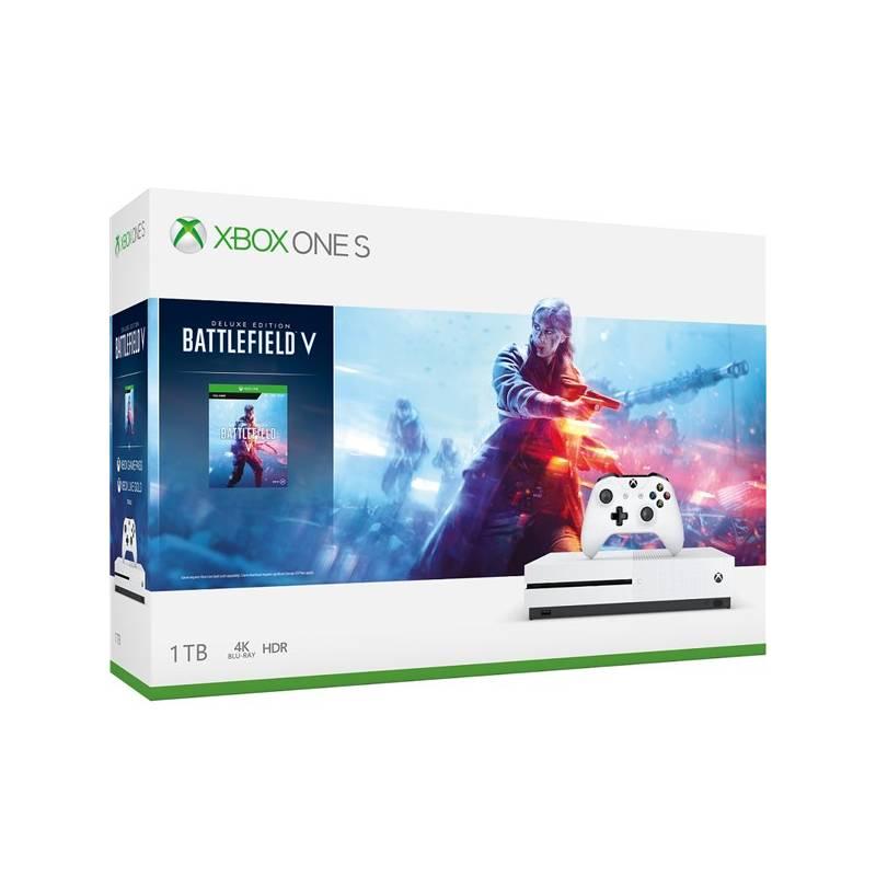 Herná konzola Microsoft Xbox One S 1 TB + Battlefield V (234-00688)