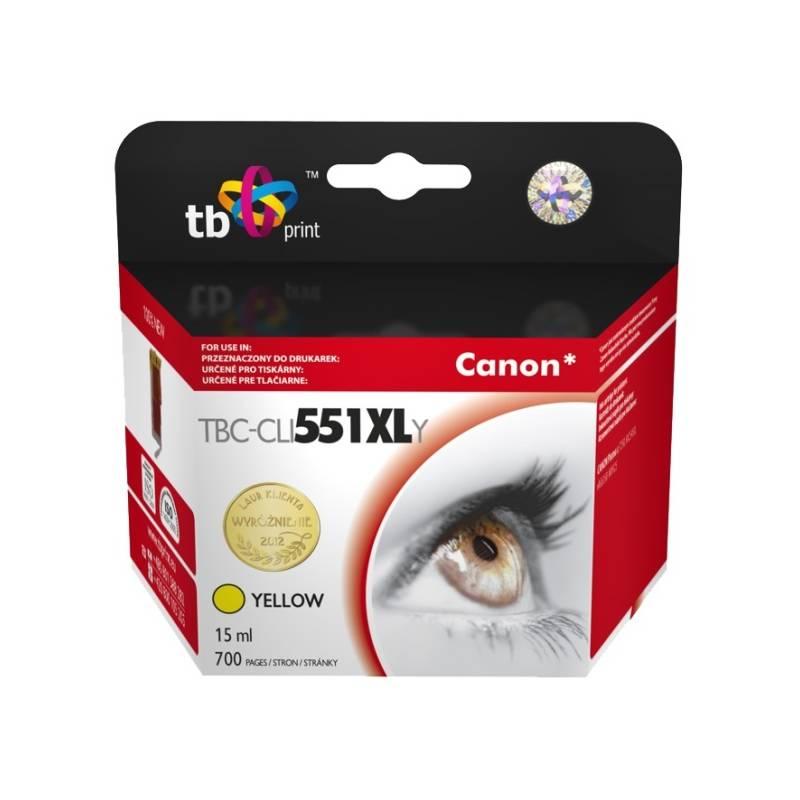 Cartridge TB Canon CLI-551XL - kompatibilní (TBC-CLI551XLY) žltá + Doprava zadarmo
