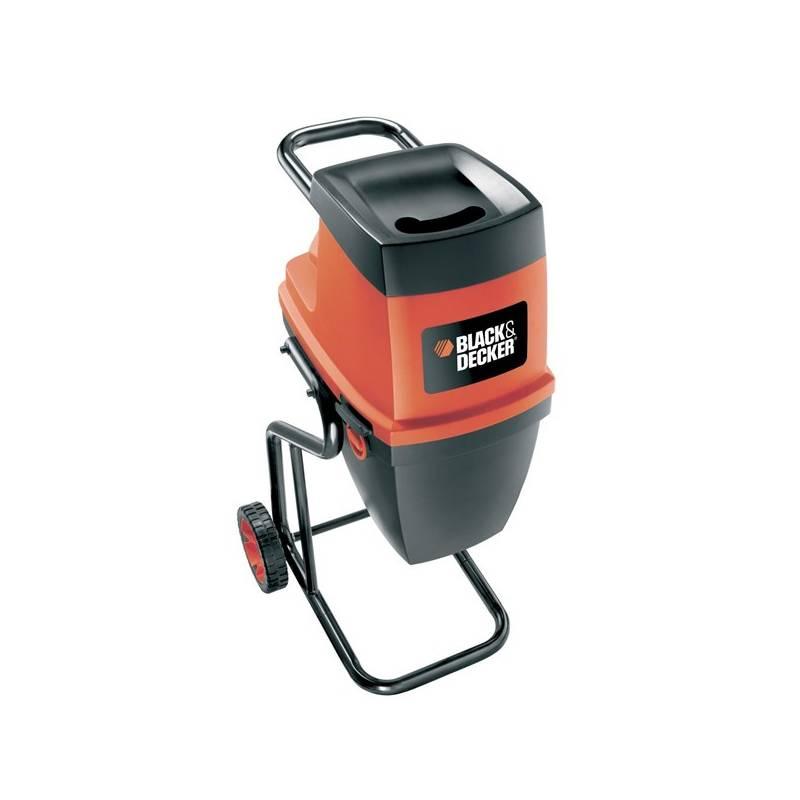 Drvič zahradného odpadu Black-Decker GS2400 čierny/červený + Doprava zadarmo