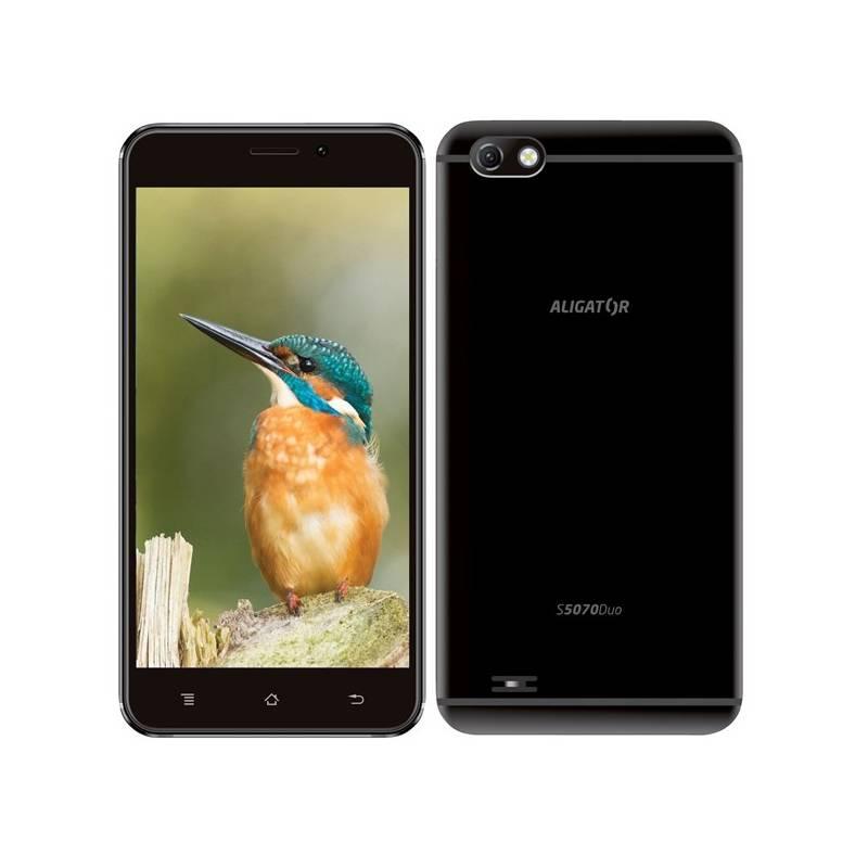 Mobilný telefón Aligator S5070 Dual SIM (AS5070BK) čierny