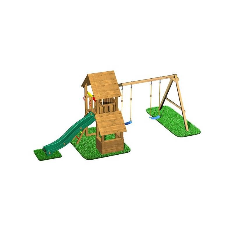 Detské ihrisko CUBS Honza 6 - věž s dvojhoupačkou a obchůdkem + Doprava zadarmo