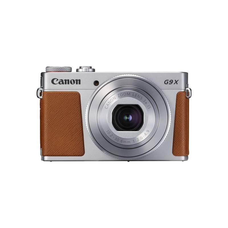 Digitálny fotoaparát Canon PowerShot PowerShot G9 X Mark II Silver (1718C002) strieborný Pouzdro foto Canon DCC-1890 - pro PowerShot G9X/G9X MII (zdarma)