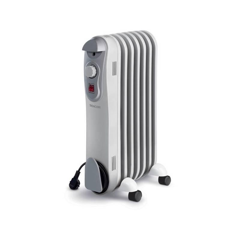 Olejový radiátor Sencor SOH 3007BE sivý/biely