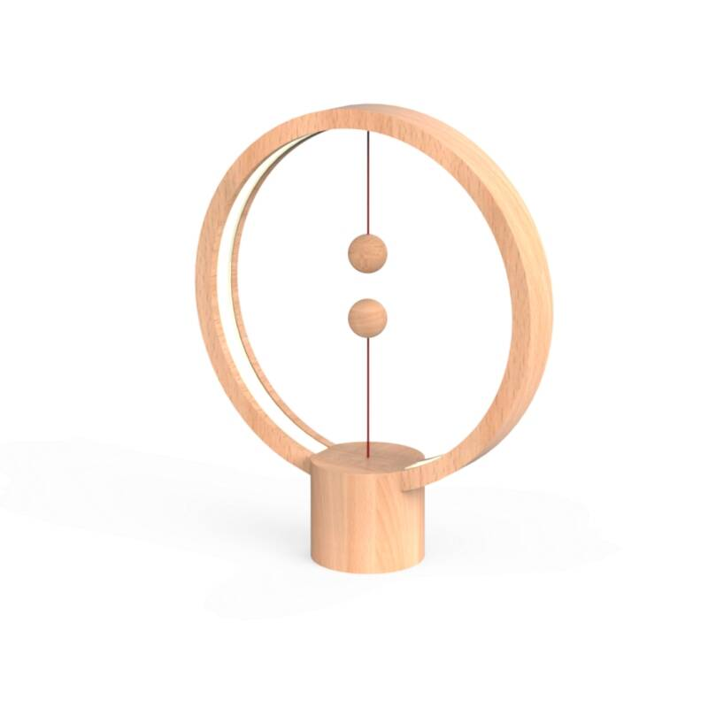Stolná lampa Powercube Heng Balance Round USB - Light Wood (DH0039LW)