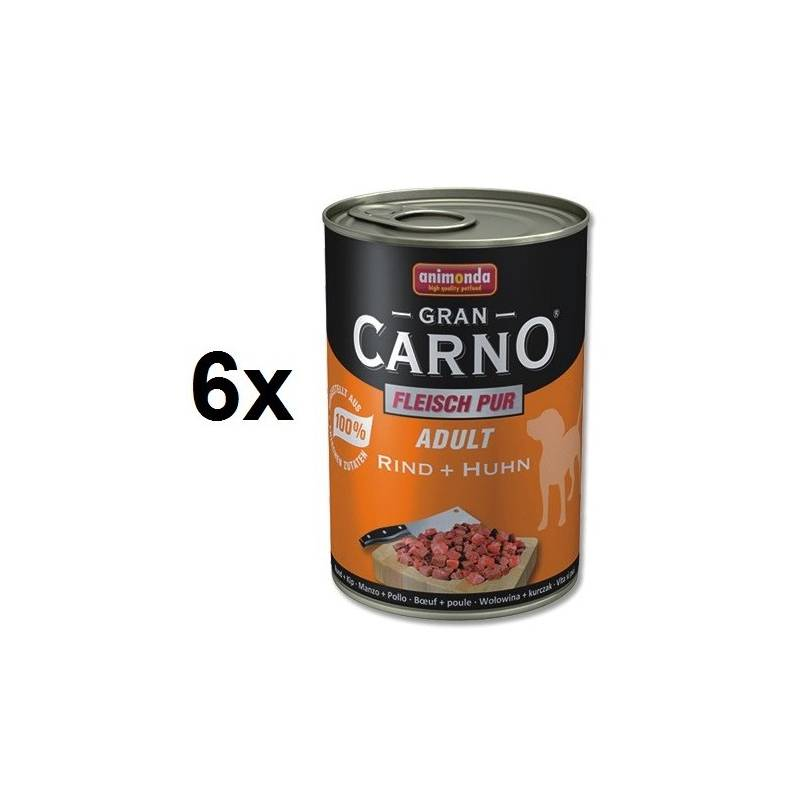 Konzerva Animonda Adult Gran Carno hovädzie + kurča 6 x 400g
