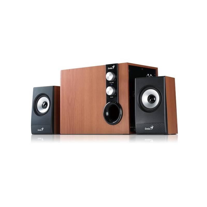 Reproduktory Genius SW-HF 1205 2.1 (31730972100) černé/imitace dřeva