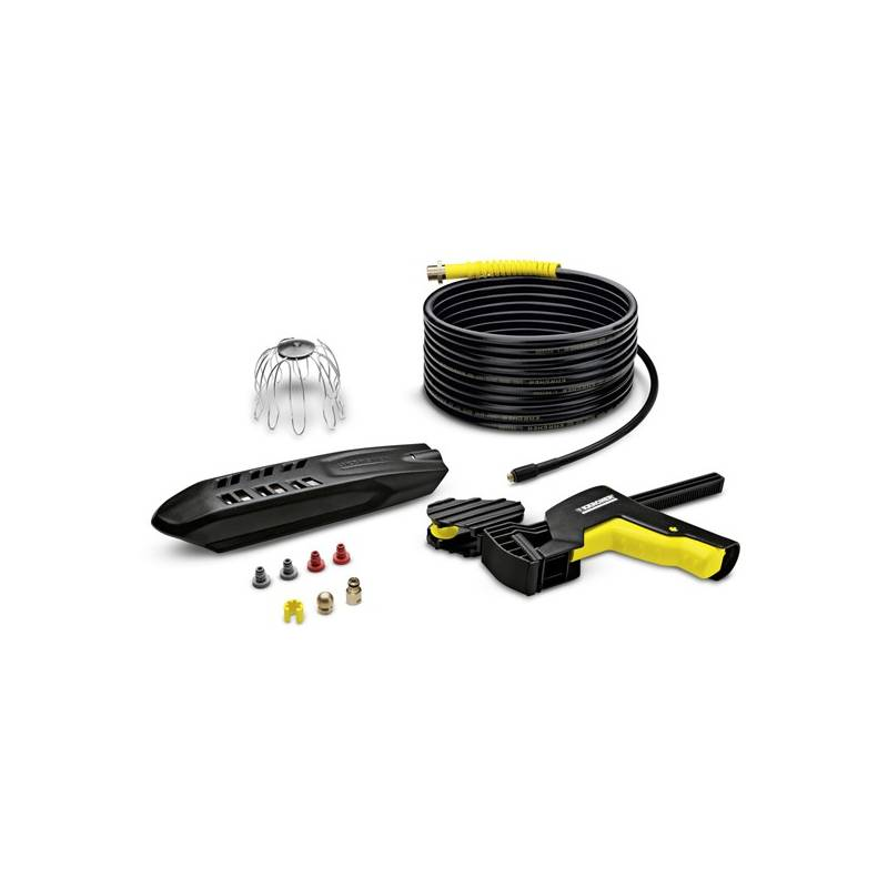 Příslušenství pro tlakové myčky Kärcher Sada na čištění potrubí a okapů (20 m) (2.642-240.0) černé/žluté