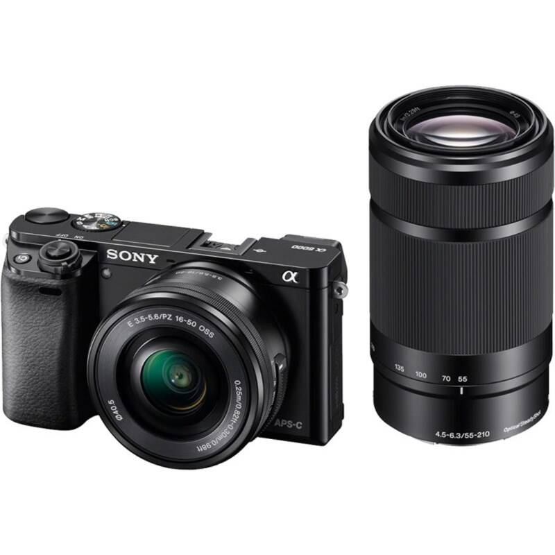 Digitálny fotoaparát Sony Alpha A6000 + 16-50 mm + 55-210 mm čierny + Doprava zadarmo