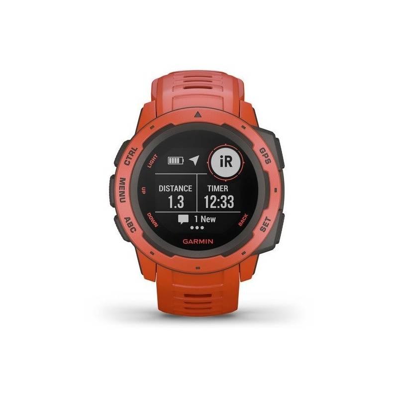 GPS hodinky Garmin Instinct (010-02064-02) červené