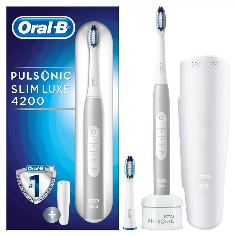 Zubná kefka Oral-B Pulsonic SLIM LUXE 4200 biely + Extra zľava 20 % + Doprava zadarmo